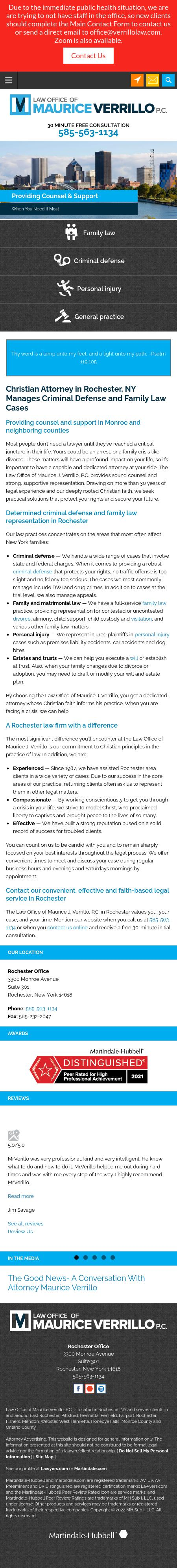 Verrillo Maurice J PC Esq. - Rochester NY Lawyers