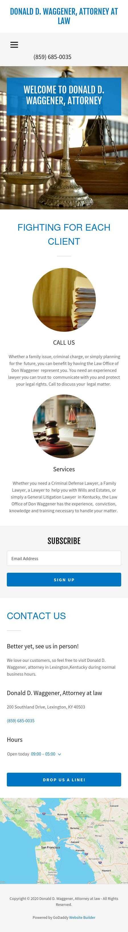 Waggener Donald D - Lexington KY Lawyers