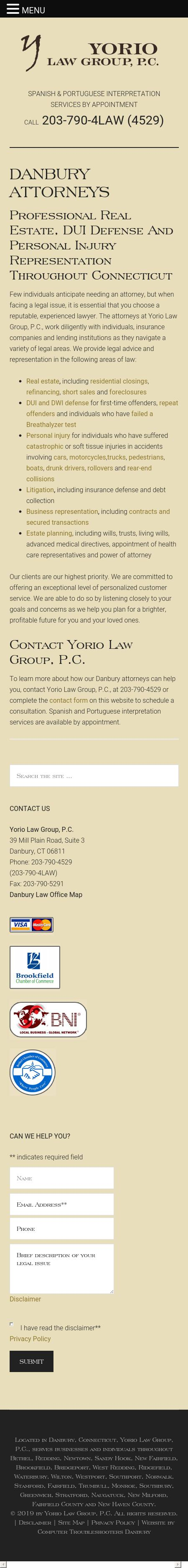 Yorio Law Group, P.C. - Westport CT Lawyers
