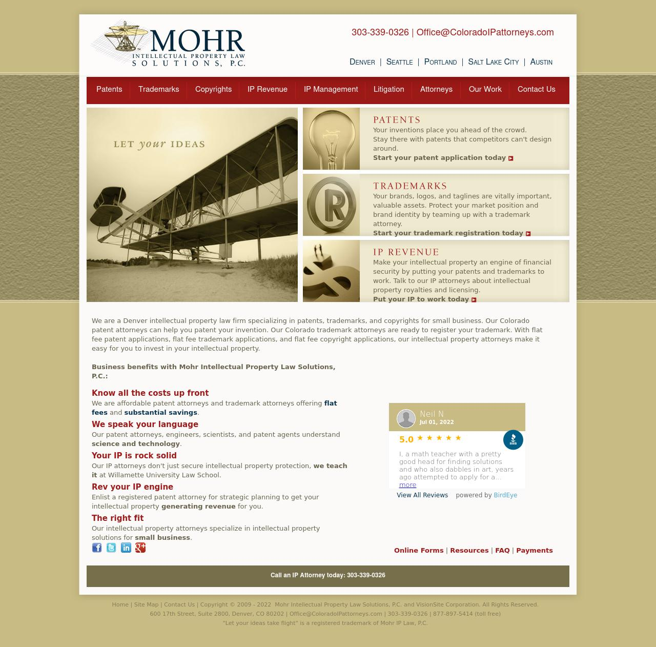 Mohr Intellectual Property Law Solutions, P.C. - Denver CO Lawyers