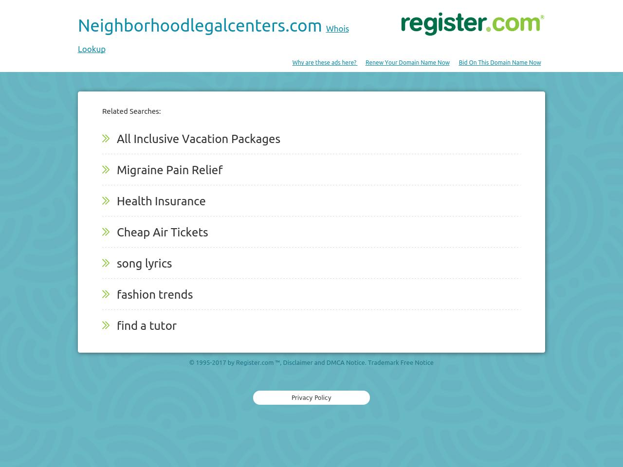 Neighborhood Legal Centers - Cleveland OH Lawyers