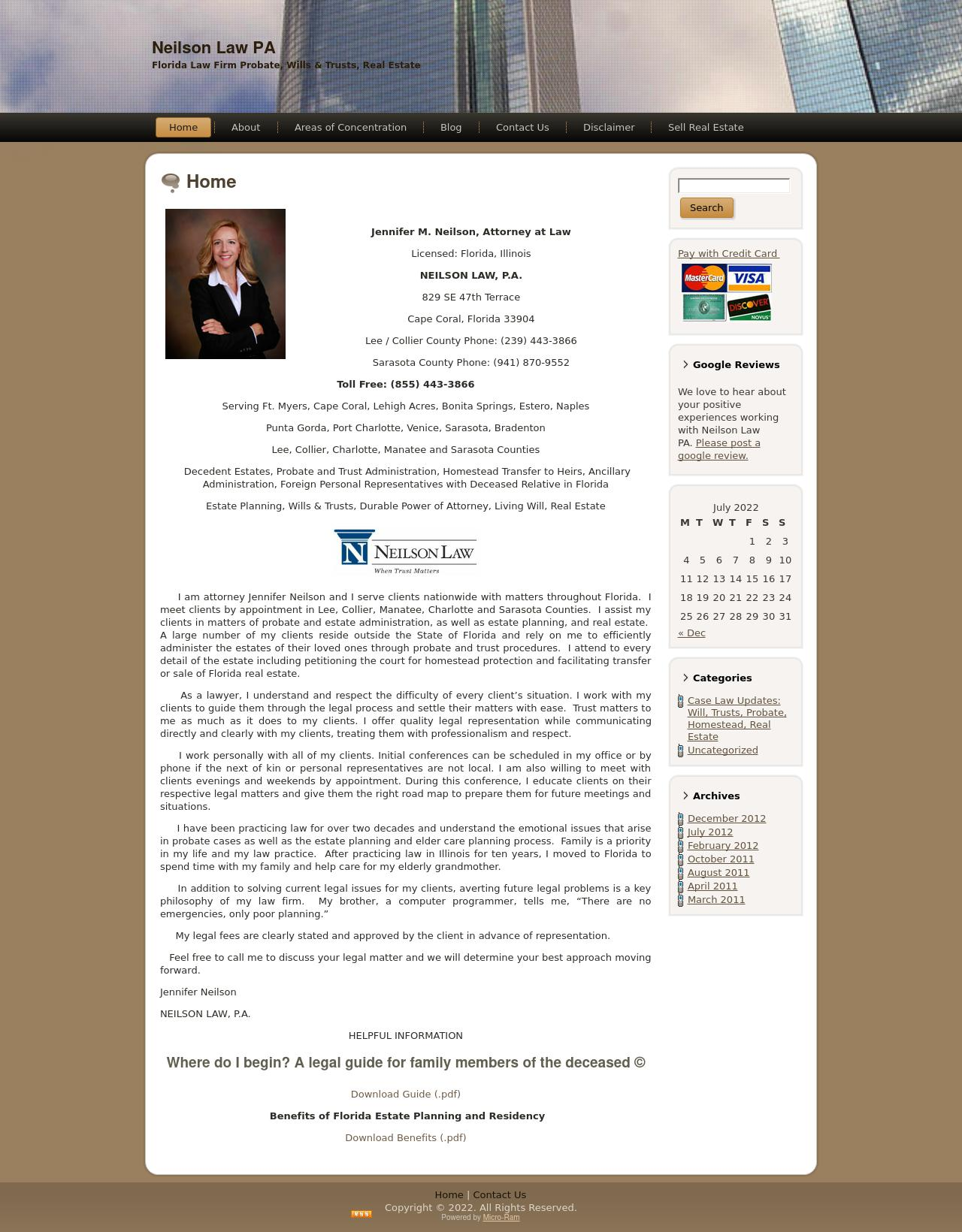 Neilson Law, P.A. - Probate, Trusts and Estates Law Firm - Cape Coral FL Lawyers