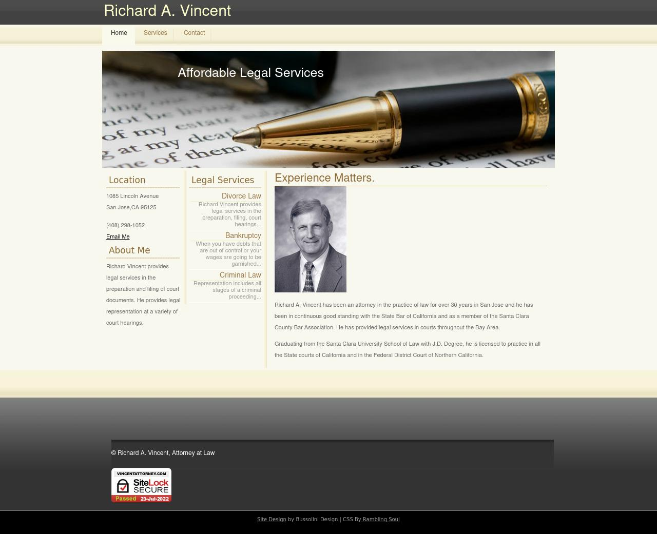 RICHARD VINCENT ATTORNEY AT LAW - San Jose CA Lawyers