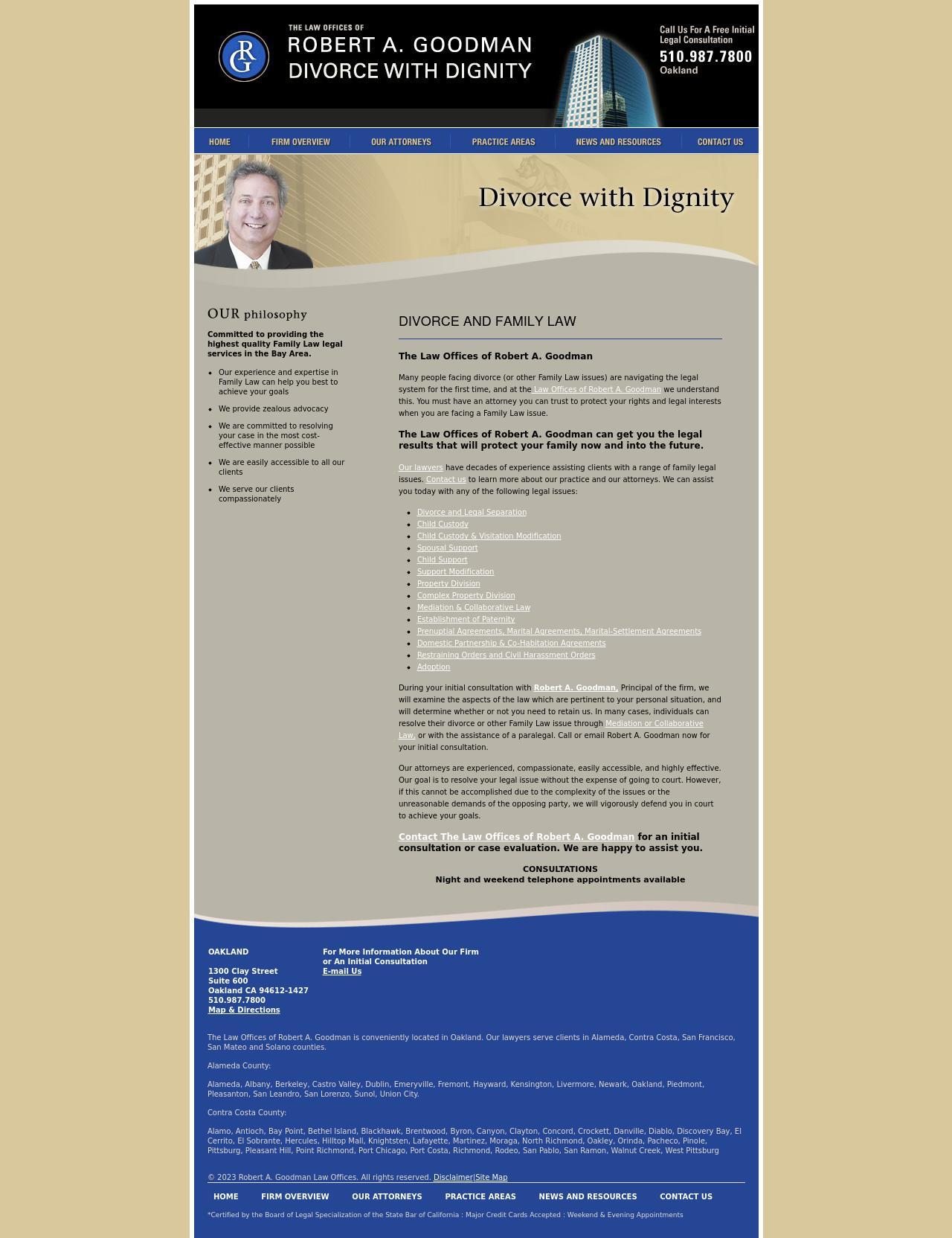 Robert A. Goodman Law Offices   Oakland CA Lawyers