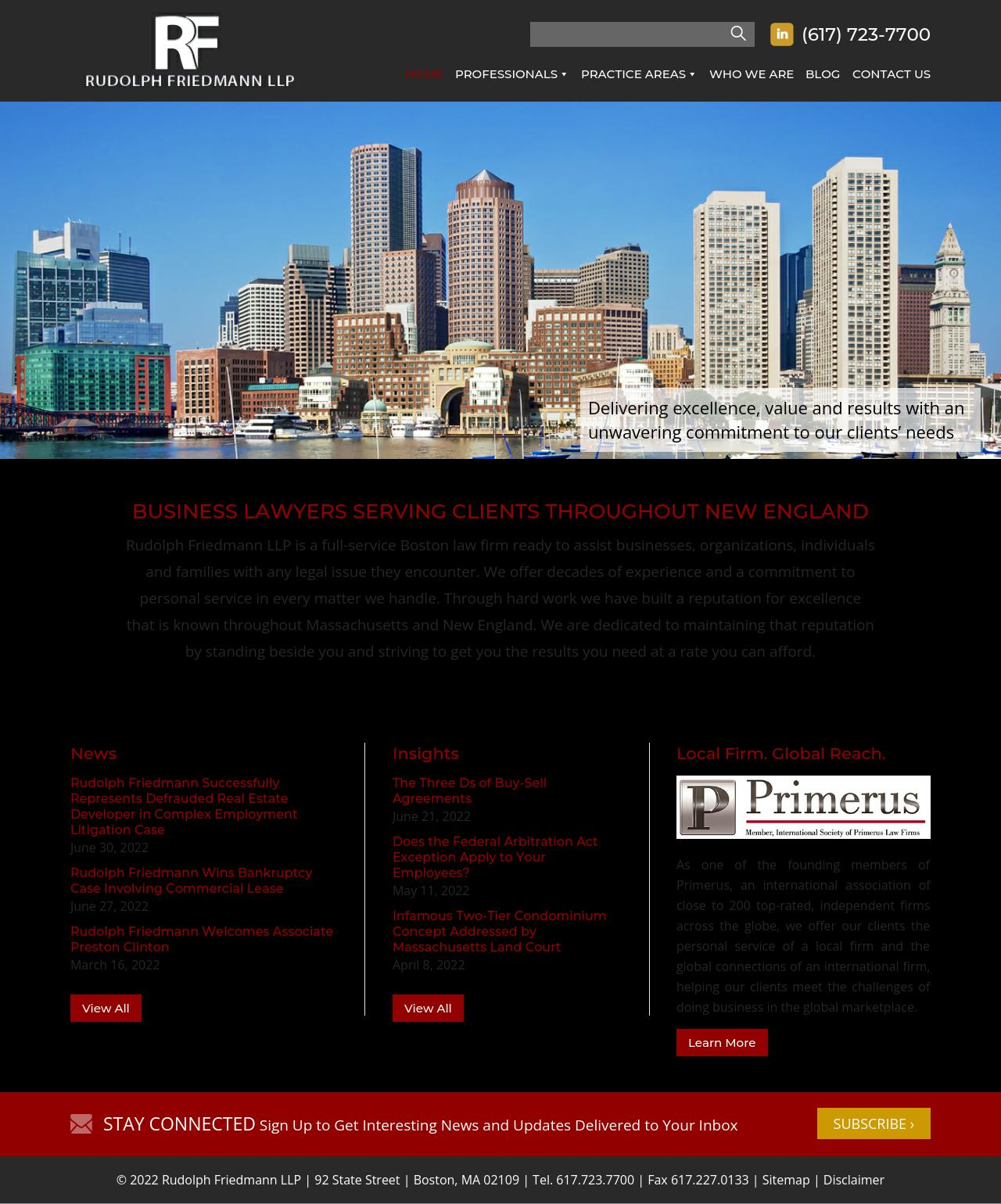 Rudolph Friedmann LLP - Boston MA Lawyers