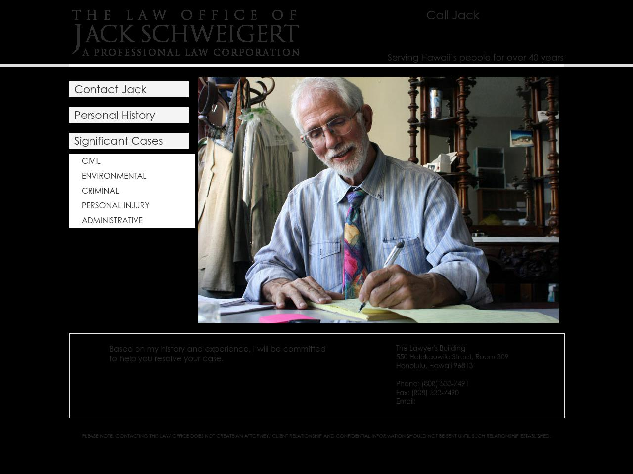 Schweigert Jack Attorney At Law A Law Corporation - Honolulu HI Lawyers