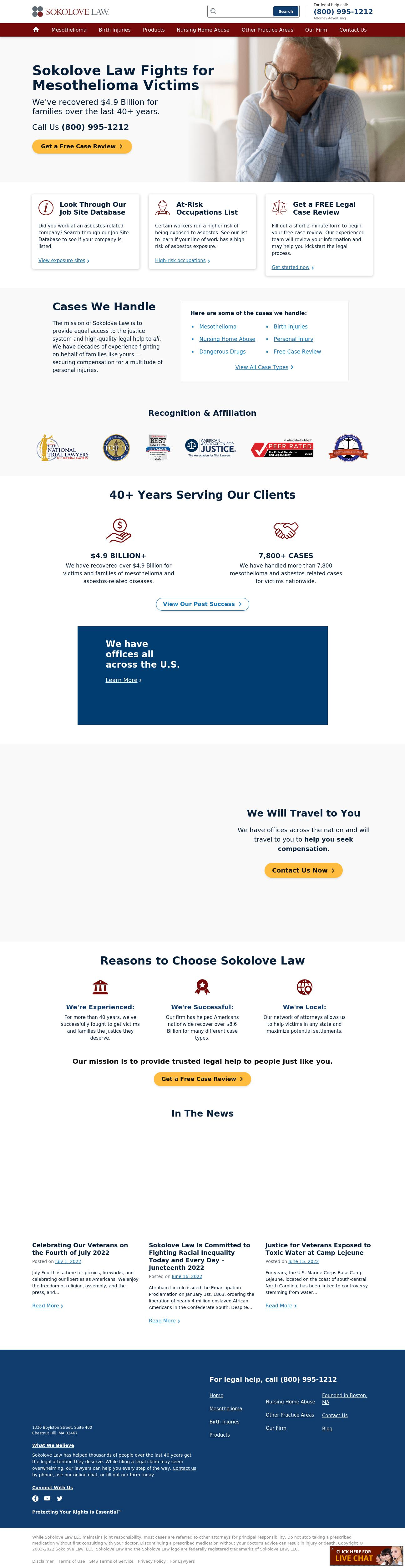 Sokolove Law, LLC - Wellesley MA Lawyers