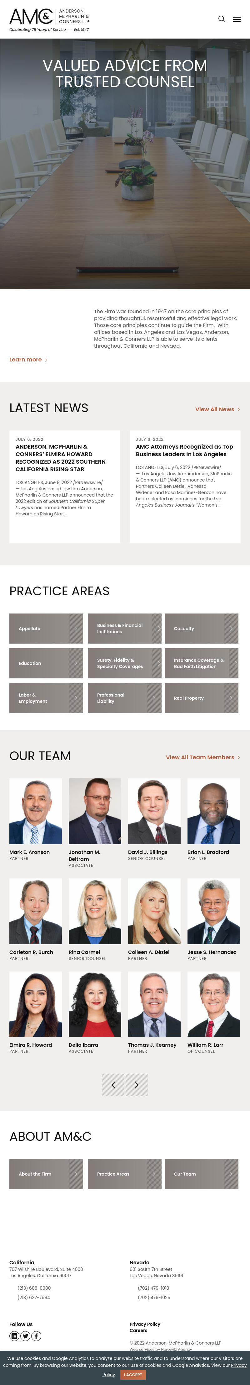 Anderson, McPharlin & Conners, LLP - Las Vegas NV Lawyers