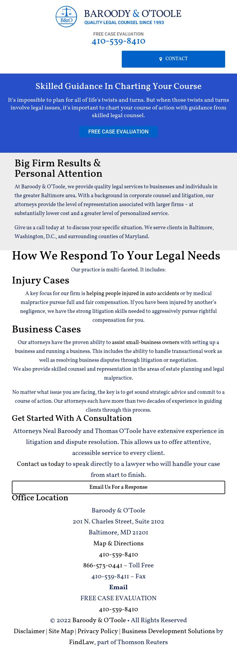 Baroody & O'Toole - Baltimore MD Lawyers