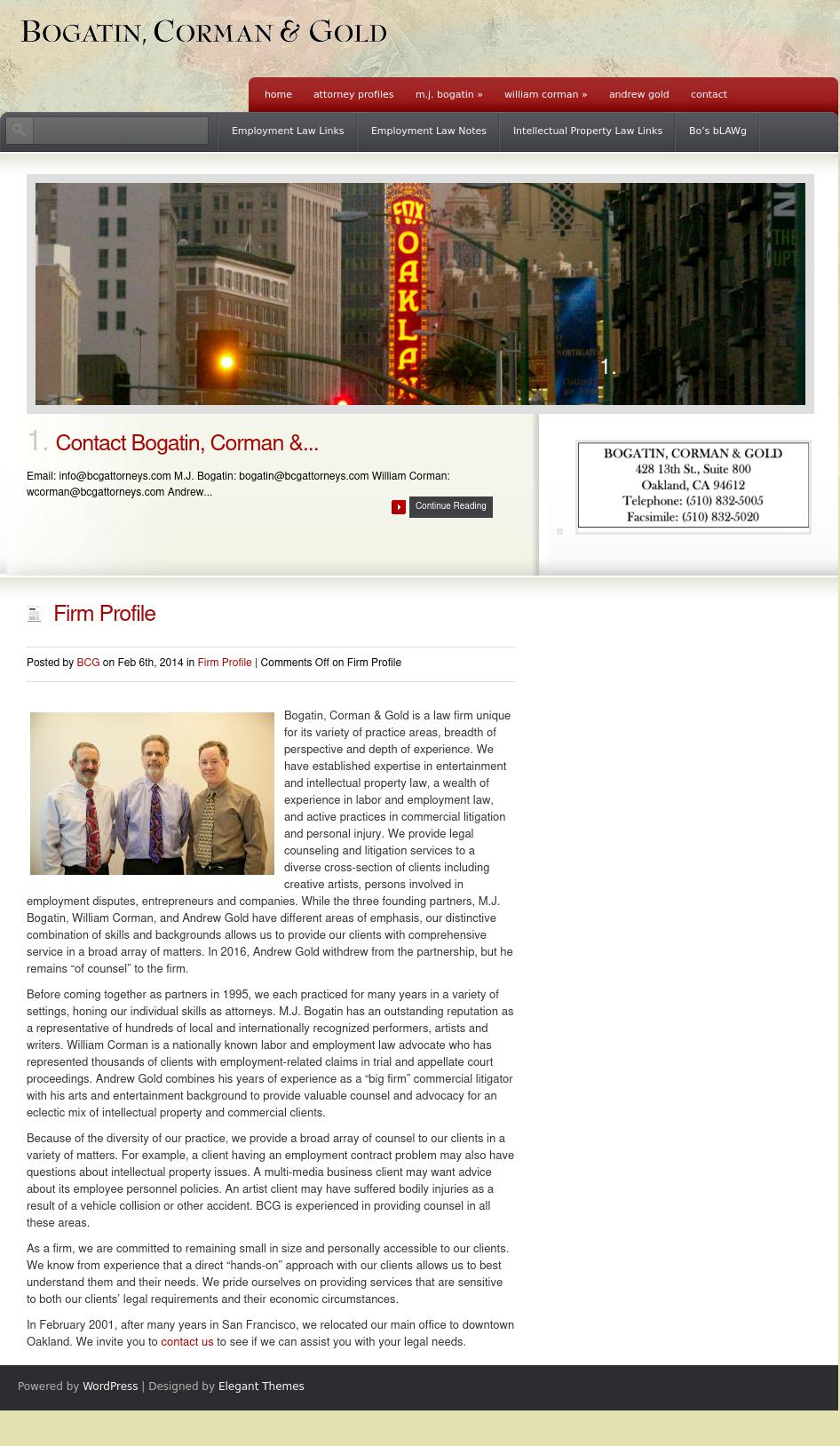 Bogatin Corman & Gold Attorneys At Law - Oakland CA Lawyers