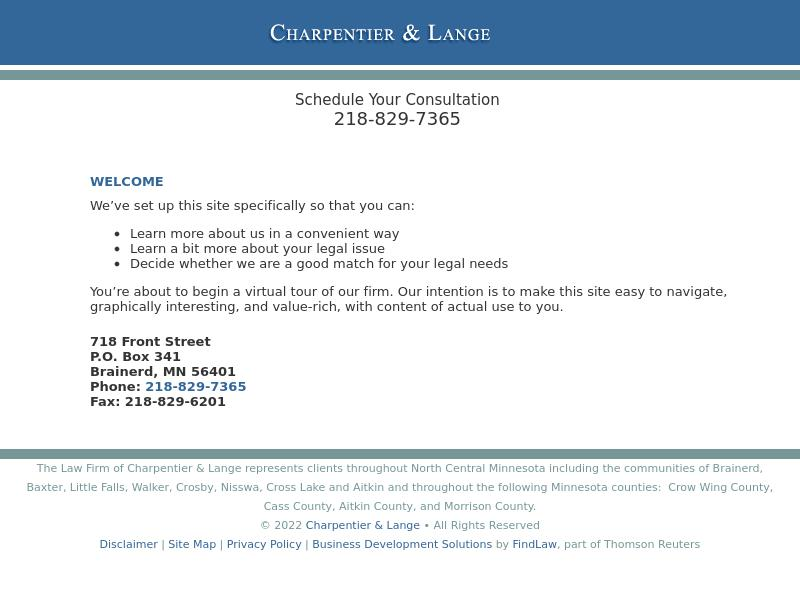 Charpentier & Lange - Brainerd MN Lawyers