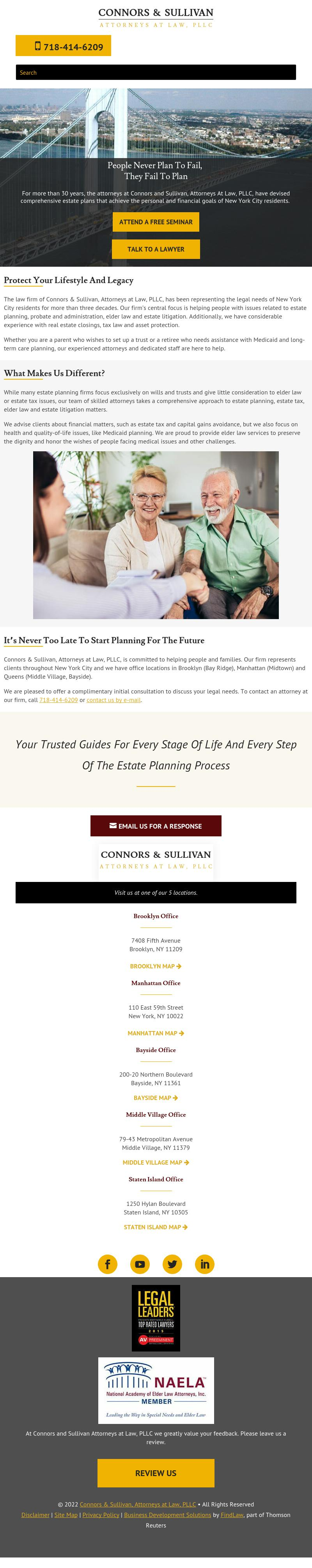 Connors and Sullivan Attorneys at Law, PLLC - New York NY Lawyers
