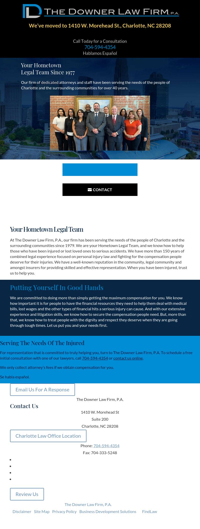 Downer, Walters & Mitchener, P.A. - Charlotte NC Lawyers