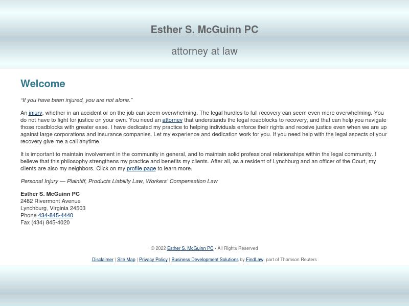 Esther S. McGuinn PC - Lynchburg VA Lawyers