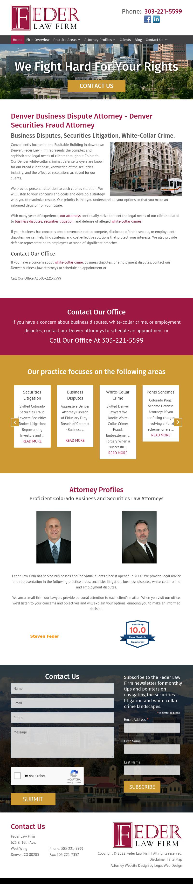 Feder Law Firm - Denver CO Lawyers
