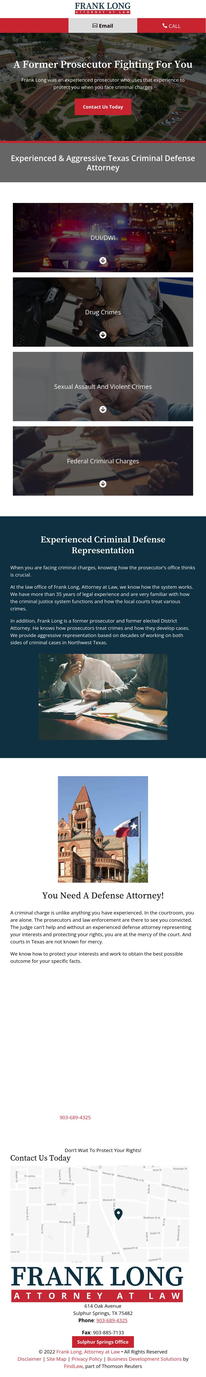 Frank Long, Attorney at Law - Sulphur Springs TX Lawyers
