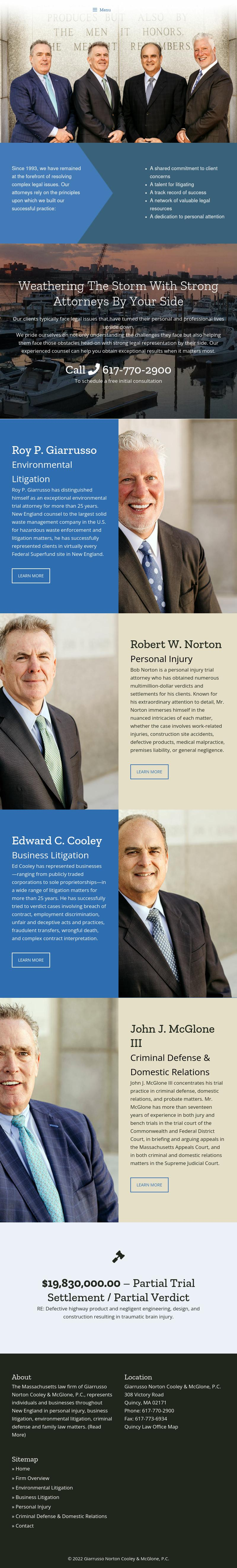 Giarrusso Norton Cooley & McGlone, P.C. - Quincy MA Lawyers