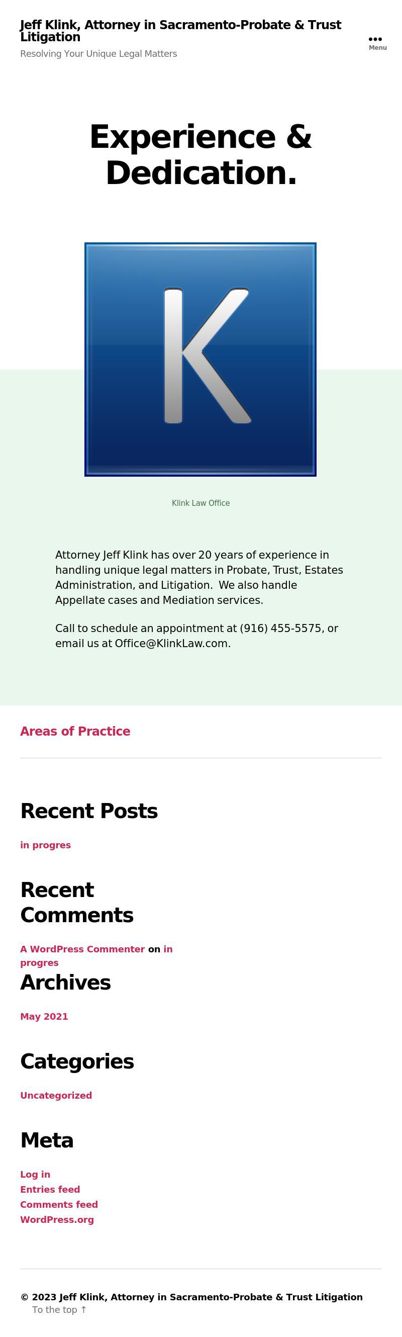 Jeff Klink Attorney At Law | Sacramento CA Law | LawyerLand