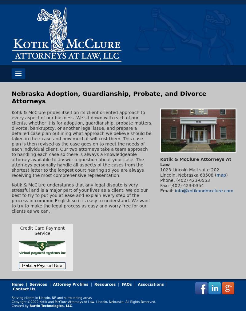 Kotik & McClure Attorneys At Law LLC - Lincoln NE Lawyers