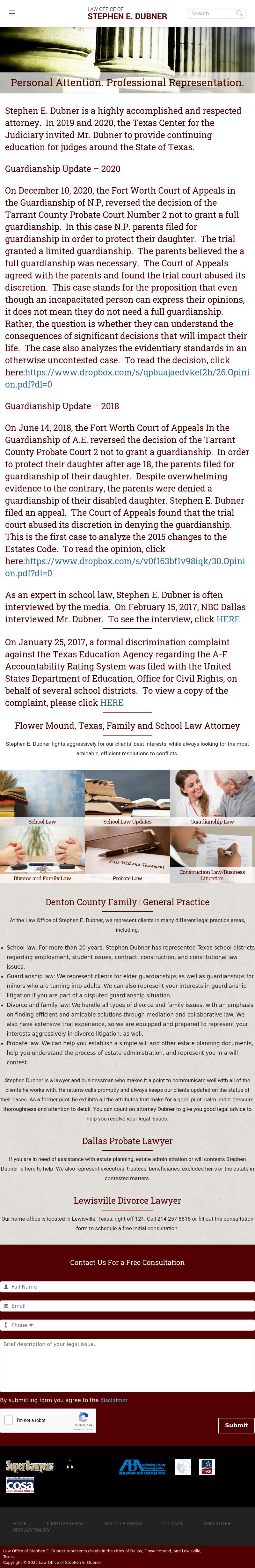 Law Office of Stephen E. Dubner - Flower Mound TX Lawyers