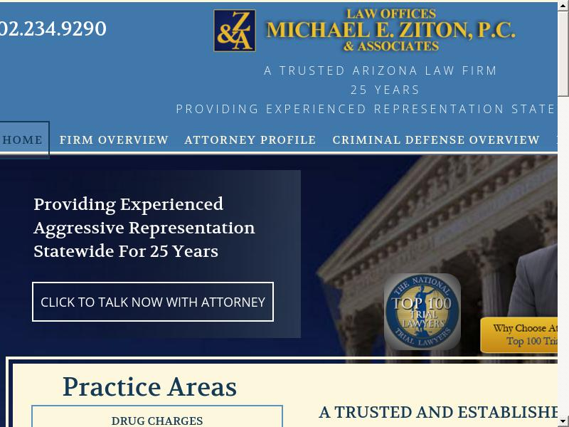 Law Offices Michael E. Ziton, P.C. - Phoenix AZ Lawyers
