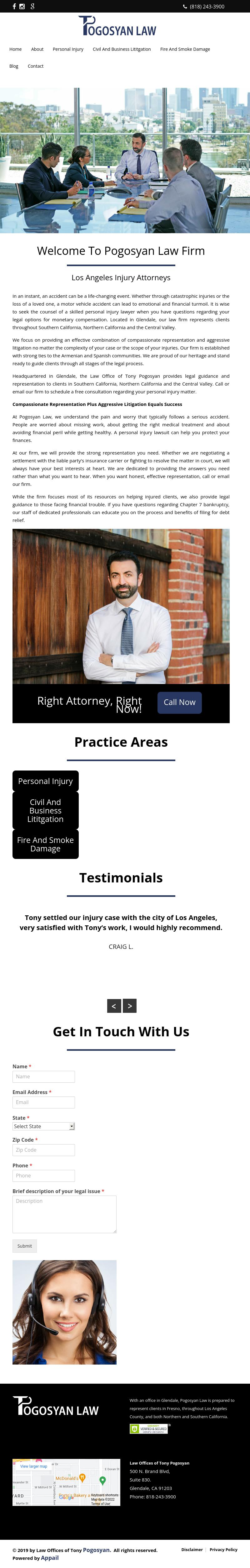 Law Offices of Tony Pogosyan - Glendale CA Lawyers