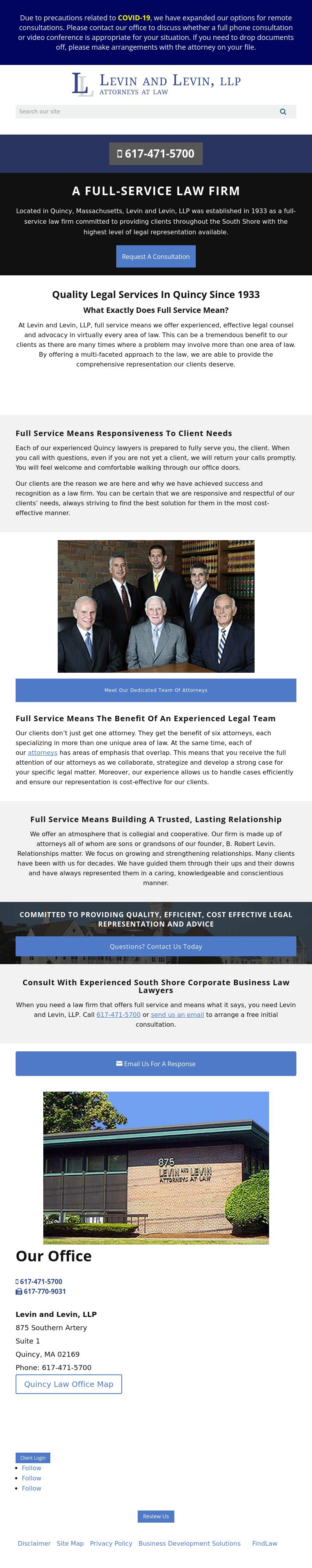 Levin and Levin, LLP - Quincy MA Lawyers