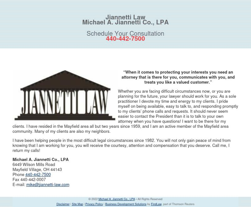 Michael A. Jiannetti Co., LPA - Mayfield Village OH Lawyers
