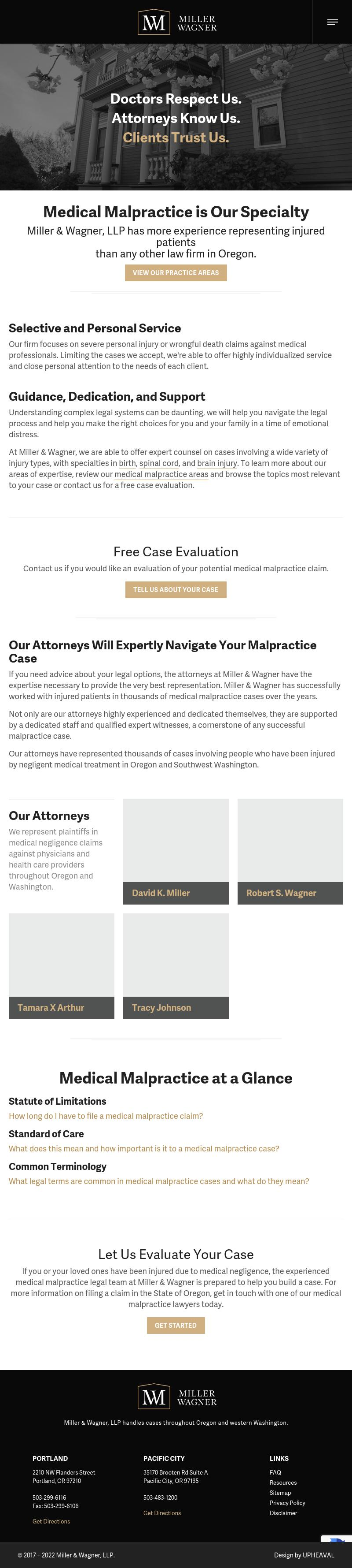 Miller & Wagner, LLP - Portland OR Lawyers
