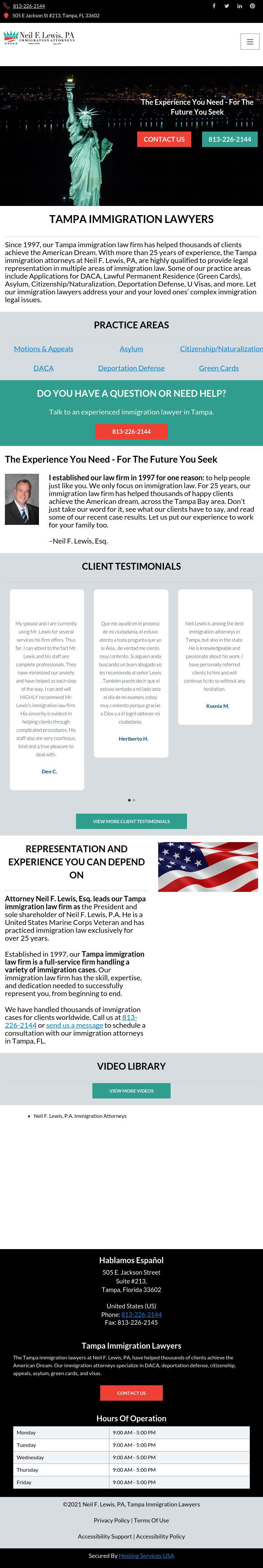Neil F. Lewis, P.A. -- Immigration Attorneys - Tampa FL Lawyers