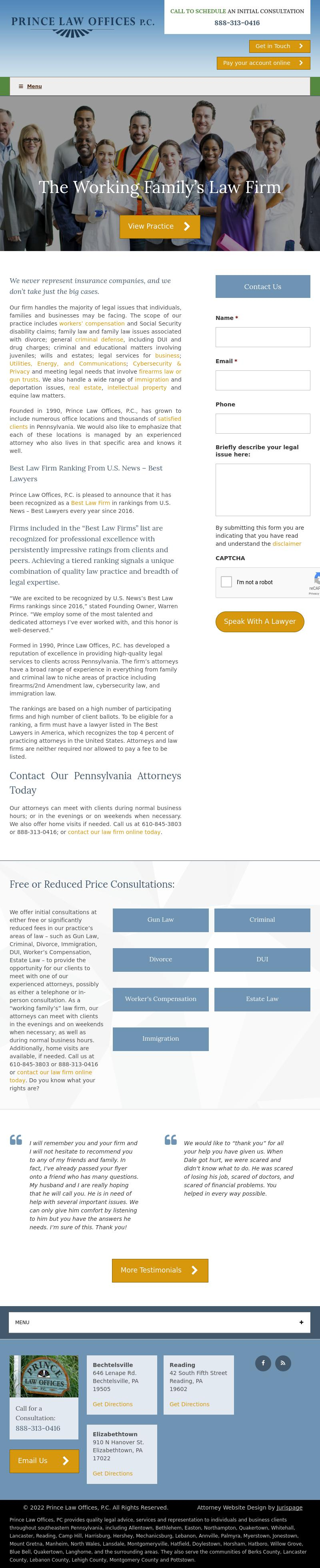 Prince Law Offices, P.C. - Pottstown PA Lawyers