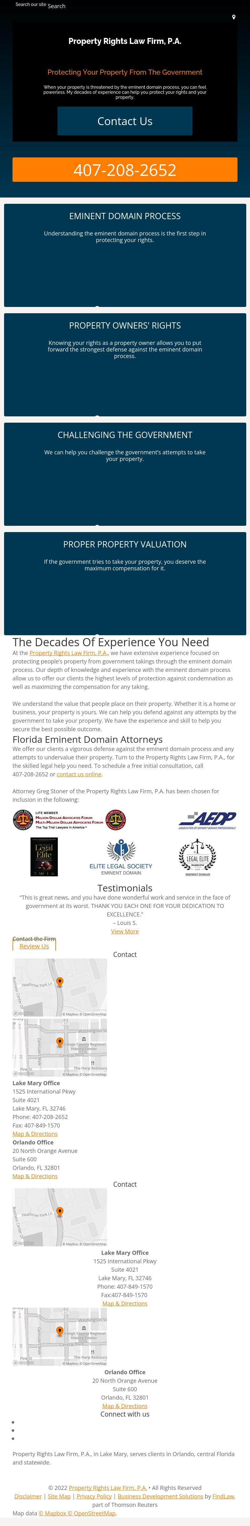 Property Rights Law Firm, P.A. - Orlando FL Lawyers