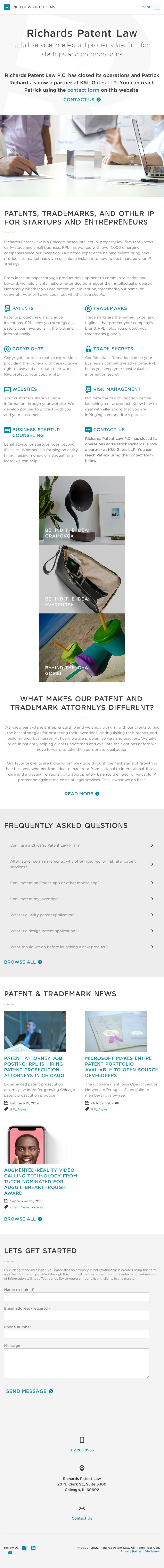 Richards Patent Law P.C. - Chicago IL Lawyers