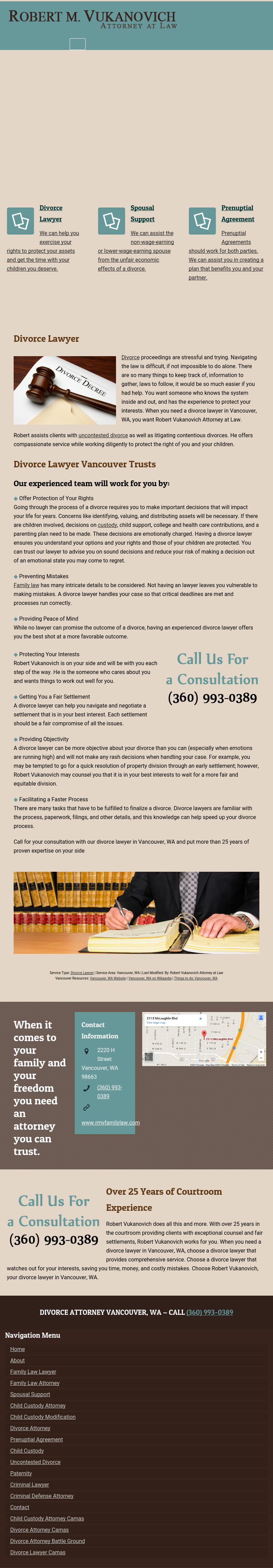 Robert Vukanovich Attorney at Law - Vancouver WA Lawyers