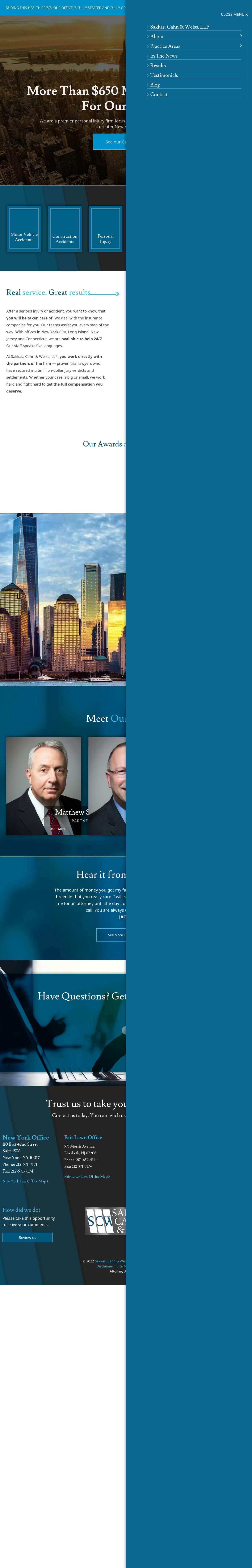 Sakkas, Cahn & Weiss, LLP - New York NY Lawyers