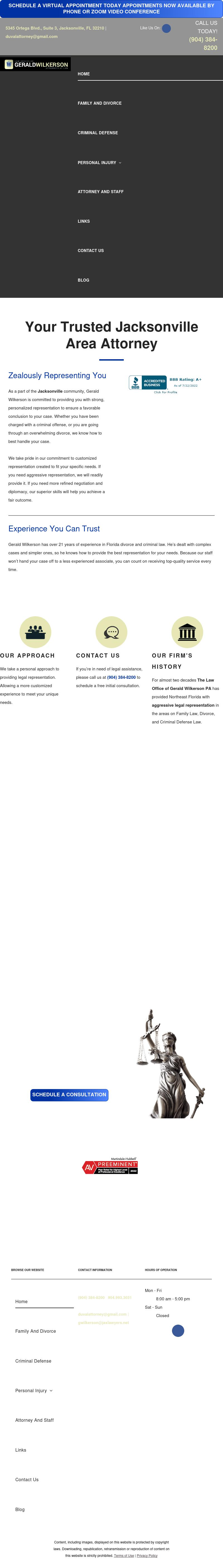 The Law Office Of Gerald Wilkerson Pa - Jacksonville FL Lawyers