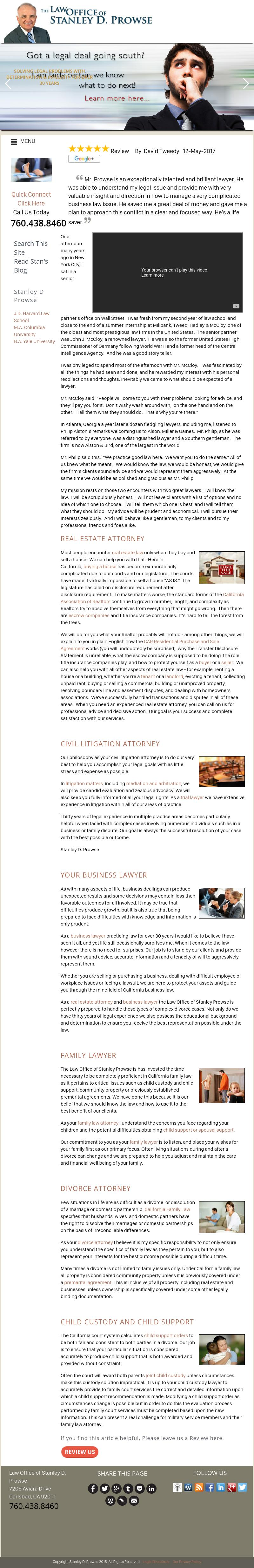 The Law Office of Stanley D. Prowse - Carlsbad CA Lawyers