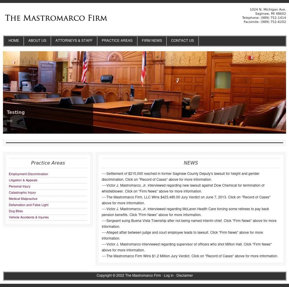 The Mastromarco Firm, A Professional Corporation - Saginaw MI Lawyers