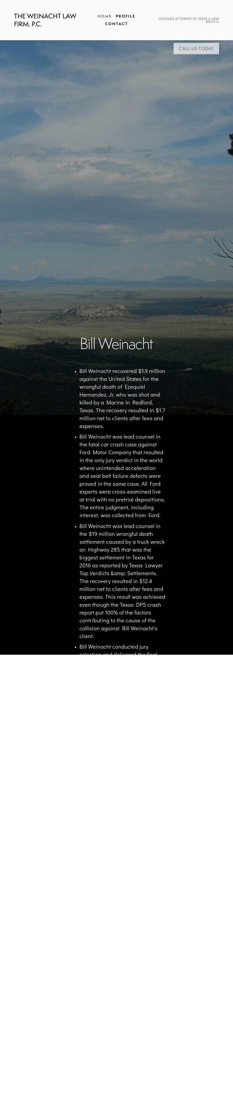 THE WEINACHT LAW FIRM - Pecos TX Lawyers