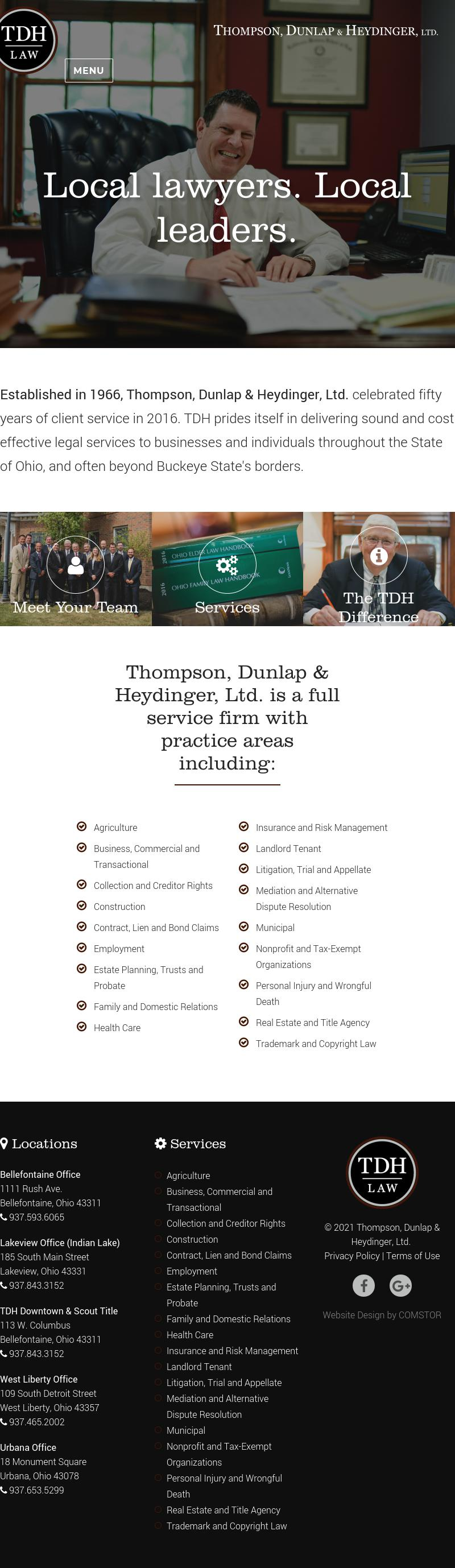 Thompson, Dunlap & Heydinger, Ltd. - Lakeview OH Lawyers