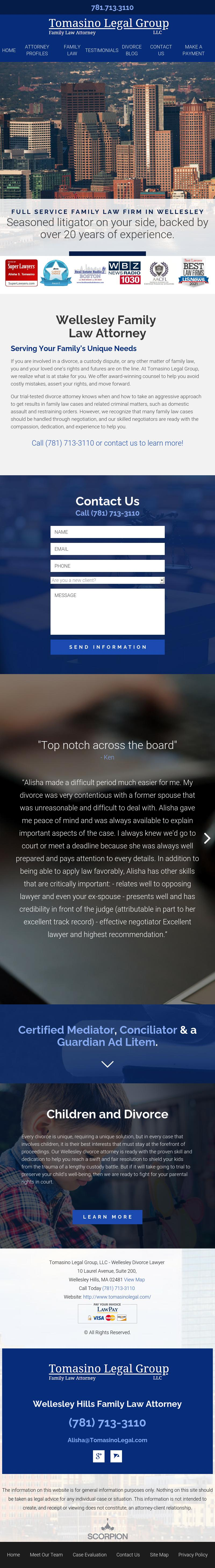 Tomasino Legal Group, LLC - Wellesley Hills MA Lawyers