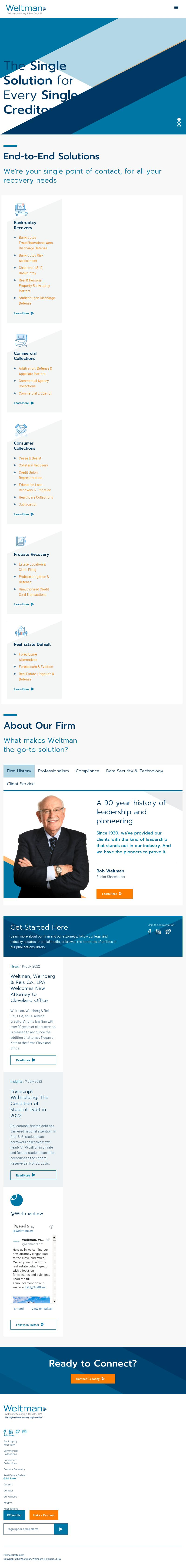 Weltman Weinberg & Reis Co LPA - Cleveland OH Lawyers