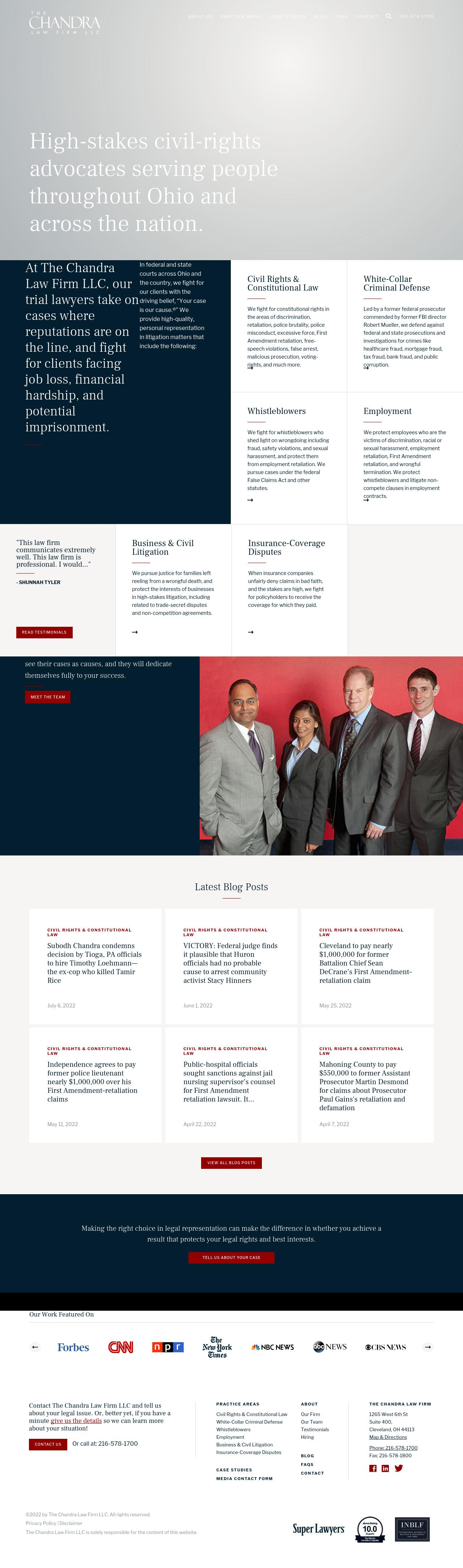 The Chandra Law Firm LLC Cleveland OH Law