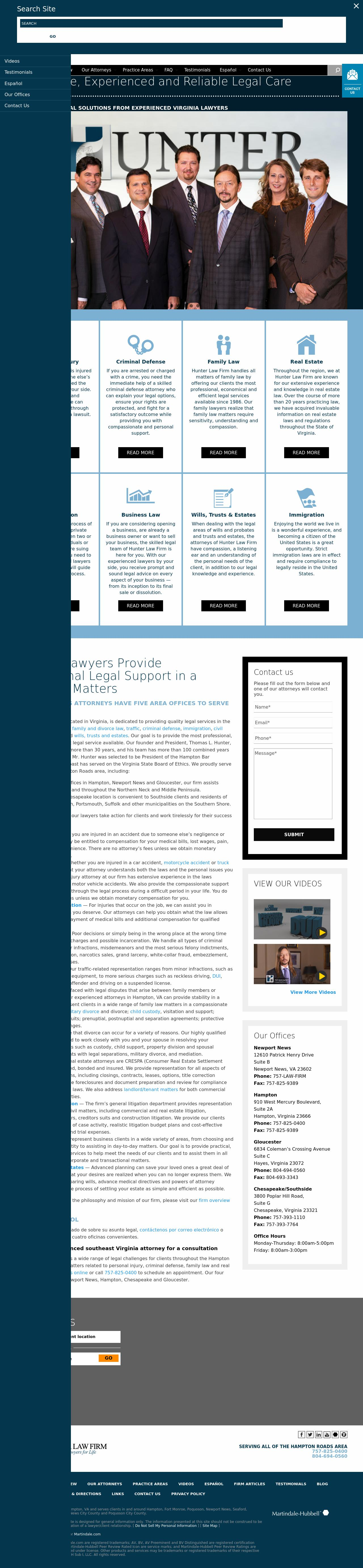 The Law Firm of Thomas L.Hunter & Associates - Hampton VA Lawyers