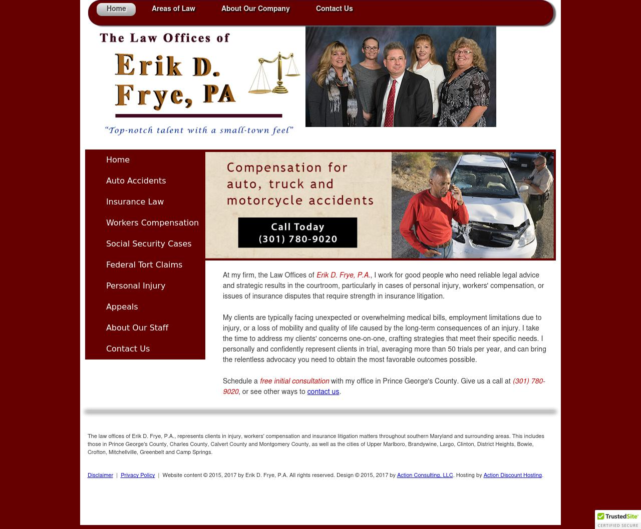 The Law Offices of Erik D  Frye, P A  | Upper Marlboro MD