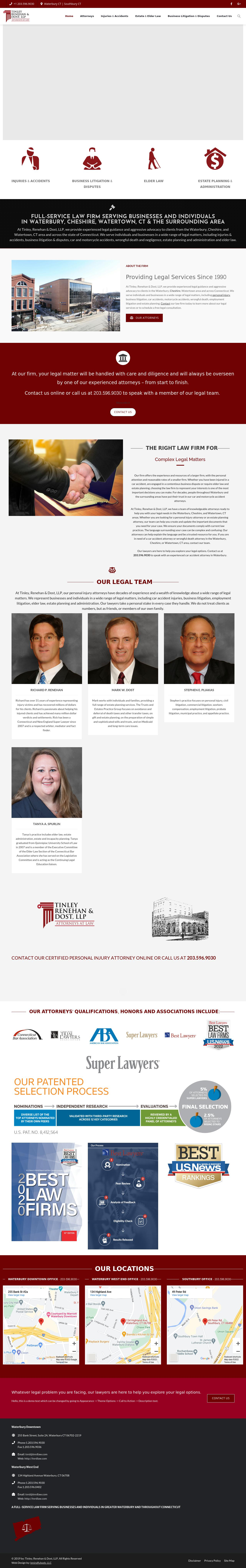 Tinley, Renehan & Dost, LLP - Waterbury CT Lawyers